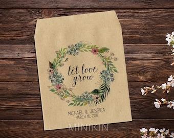 Custom Seed Packets, Boho Wedding, Seed Favor, Wedding Seed Packet, Personalized Favor, Custom Seed Wedding Favor, Wedding Favor x 25