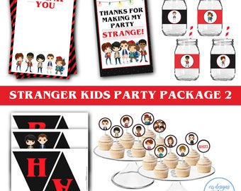 Stranger Kids Party Package, Stranger Birthday Party, Strange Birthday Party, Stranger Birthday, Strange Birthday
