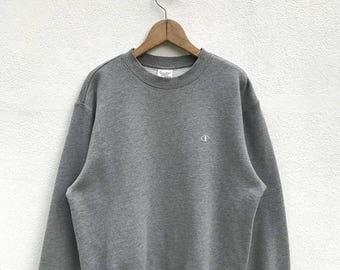 "20% OFF Vintage C Logo Sweatshirt / Champion Sweater / Champion Clothing / Champion Spellout / Armpit 22"""