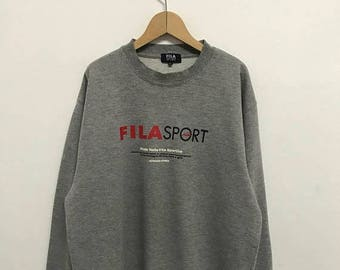 20% OFF Vintage Fila Sport Sweatshirt/Fila Sweater/Casual Clothing/Fila Sport Sweater/Fila Italia