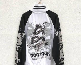 20% OFF Sukajan Jacket Vintage Dog Town Dogtown Sukajan Japan Dragona Eagle Yokosuka Yakuza Embroidery Souvenirs Jacket Rare