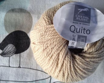 Camel wool QUITO - white horse
