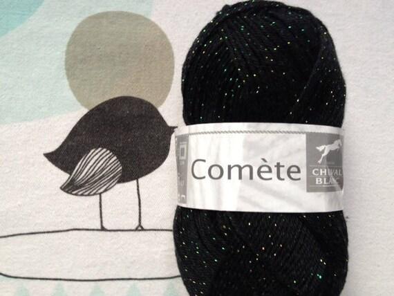 WOOL Comet black - white horse