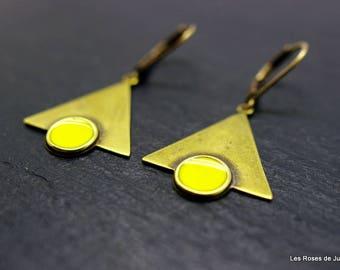Earrings triangle earrings