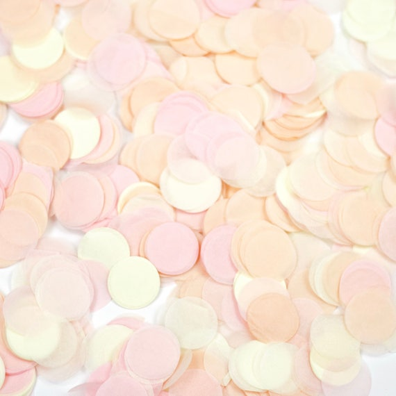 Blushing Peony Confetti, Pink Peach Confetti, Shred, Table Decor, Confetti Balloon, First Birthday, Bachelorette, Baby Shower, Wedding