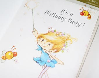 RESERVED Set of vintage 1980s Herself the Elf birthday party invitations