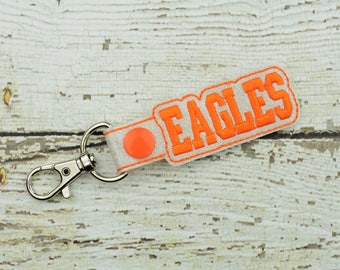 Eagles Keychain - Bag Tag - Small Gift - Gift for Her - Thank You Gift - Bag Accessory - Zipper Pull - Team Spirit