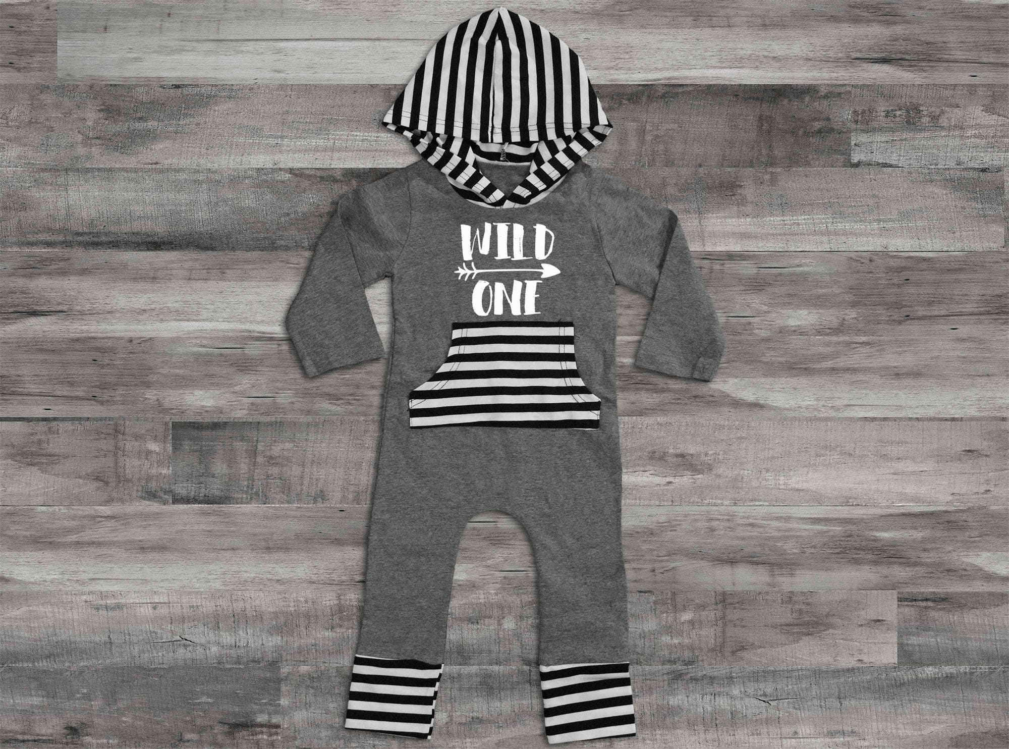 Baby Boy Clothes Wild One Birthday Outfit Romper Outfit1st
