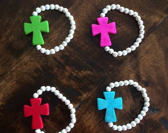 Beaded Cross Bracelets