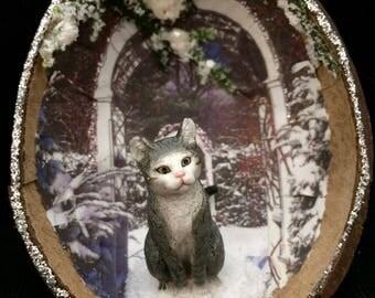 A Princess in the winter garden.