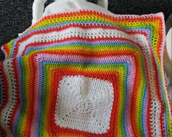 Rainbow bright baby blanket