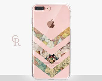 Maps iPhone 7 Clear Case For iPhone 8 iPhone 8 Plus - iPhone X - iPhone 7 Plus - iPhone 6 - iPhone 6S - iPhone SE - Samsung S8 - iPhone 5