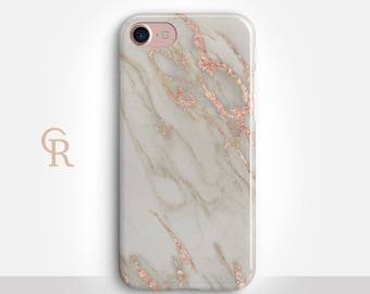 Marble Phone Case For iPhone 8 iPhone 8 Plus - iPhone X - iPhone 7 Plus - iPhone 6 - iPhone 6S - iPhone SE - Samsung S8 - iPhone 5