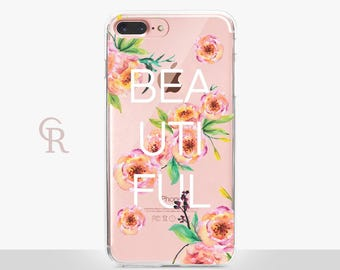 Beautiful Clear Phone Case - Clear Case-For iPhone 8, 8 Plus, X, iPhone 7 Plus, 7, SE, 5, 6S Plus, 6S,6 Plus, Samsung S8,S8 Plus,Transparent