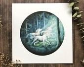 Pre-order We Journey Together 6x6 Unicorn Print