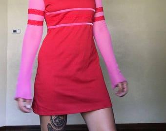 90s Club Kid Mesh Mini Dress