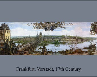 Poster, Many Sizes Available; Frankfurt'S Vorstadt Of Sachsenhausen At The Beginning Of The 17Th Century