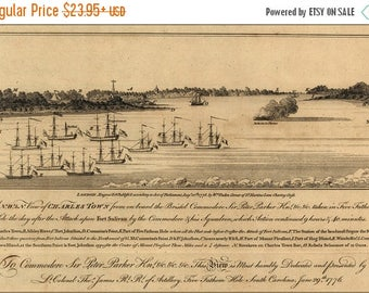 20% Off Sale - Poster, Many Sizes Available; View Charleston South Carolina During Revolution