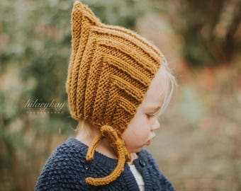 Little Pixie hat | Knitted Pixie Hat | Winter Hat | Toddler Pixie Hat | Knit Hat | Baby Pixie Hat