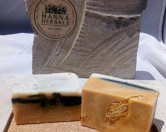 Dark Ale Soap - Beer Soap - Dark Ale Soap with activated charcoal - loofah soap - grease removal soap - mechanic soaps - soaps for men