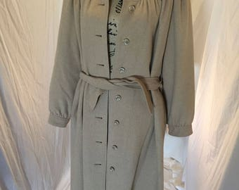 VIntage 60s 70s Womens Camel Tan Belted Jacket Lined ILGWU Union Tag USA Size 10