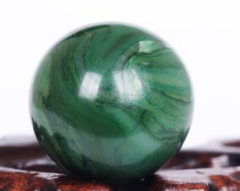 Natural African Green Jade Crystal Ball Healing, Crystals and Minerals,#Q436