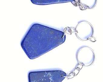 A set of three Lapis lazuli keychain