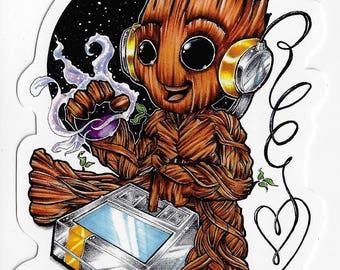 Little Tree Guy - Groot Sticker