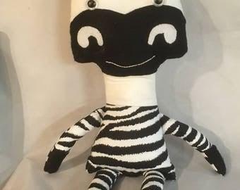 Adorable Plush Zebra Doll