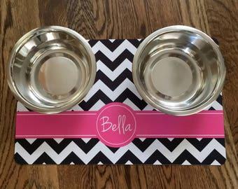 Pet Food Mat - Dog Placemat - Pet Placemat - Dog Food Mat - Personalized Pet Placemat - Water Placemat