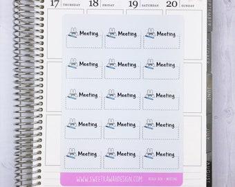 Kawaii Beaux Box Stickers - Meeting