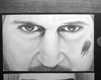 Sketch of Liam Neeson from THE GRAY | Graphite