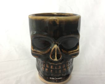 Caramel Brown Skull Cup