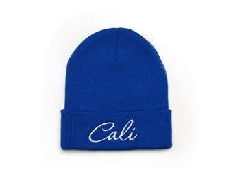California Beanie, California Hat, California Gift, Embroidered Beanie, Beanies with Words