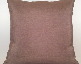 Light Purple (Pinkish Smokey Purple) Pillow, Decorative Throw Pillow Cover, Cushion Cover, Accent Pillow, Linen Blend, Sparkles Pillowcase.