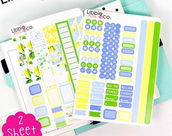 PMIV4 August Lemon Personal Month in View Life Planner Stickers!