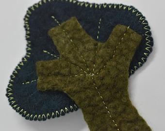 SALE Brooch Wool Felted Brooch Pin Decorative Wool Felt Brooch felted wool jewellery scarf bag pin accessory gifts women Green 11950