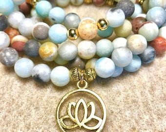 Calming and Soothing Mala/Mala Beads/Mala Necklace/Meditation Beads/108 Bead Mala