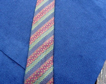 1960's Vintage Christian Dior Pure Silk Patterned Tie