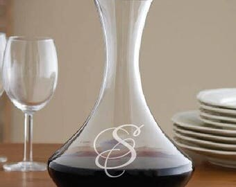 Personalized Wine Decanter - wine decanter, wine, decanter, barware, glassware, glass decanter, glass wine decanter, wedding, wine carafe