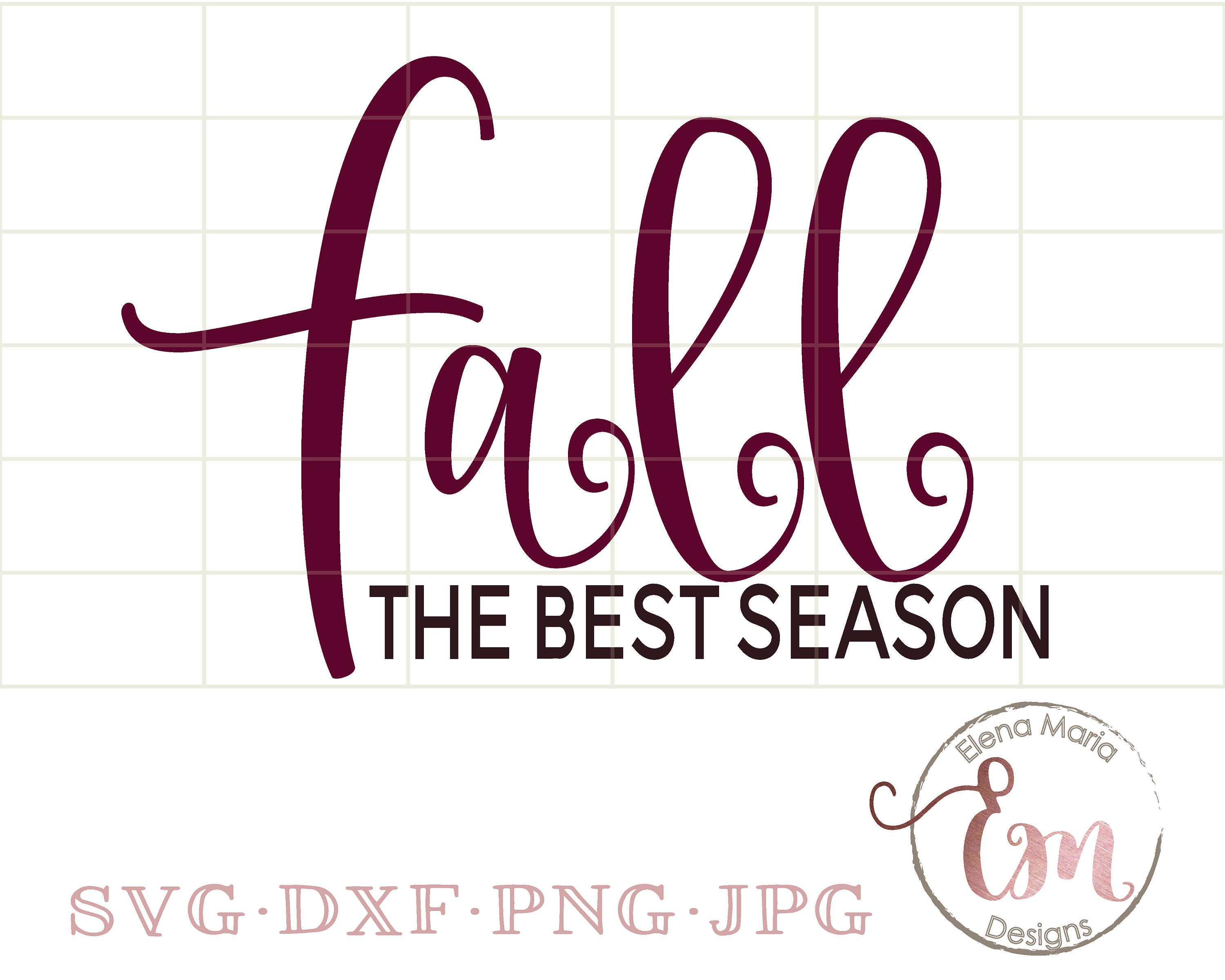 Fall The Best Season Svg File Instant Downloadfall