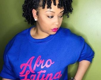 Afro Latina Royal Blue Sweatshirt