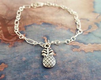 Pineapple Bracelet, Summer Jewelry, Tropical Bracelet, Fruit Bracelet, Pineapple Gift, Food Gifts, Pineapple Jewellery, Summer Trends, Gift