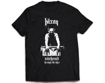 Unisex T-Shirt with horror poster movie  HÄXAN