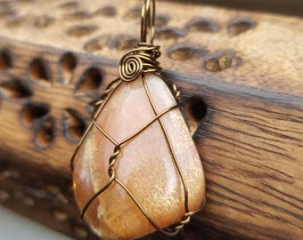 Dazzaling Golden Feldspar Necklace for Warm Sunshine Self Love and Attainment of Goals