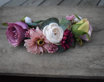 Seasonal Fall Flower Collar, Dog Flower Collar, Dog Wedding Collar, Dog Flower Crown, Dog of Honor, Dog Wedding Attire, Dog photo shoot