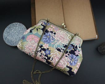 "Vintage ""Flowers"" with chain shoulder bag"
