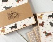 Dachshund Coasters, Dachshund Gift, Dachshund Owner, Dog Coasters, Dog Gift, Wooden Dachshund, Set of Dachshund Coasters, Coaster Set