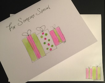 For Someone Special/Handpainted Watercolor Greeting Card