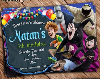 SALE 50% OFF Hotel Transylvania Birthday Invitation - Printable - Birthday Card - Party Favor - Birthday Celebration - Invitation for Kids